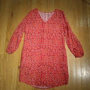 🔴 3/$15 Pink floral long sleeve dress